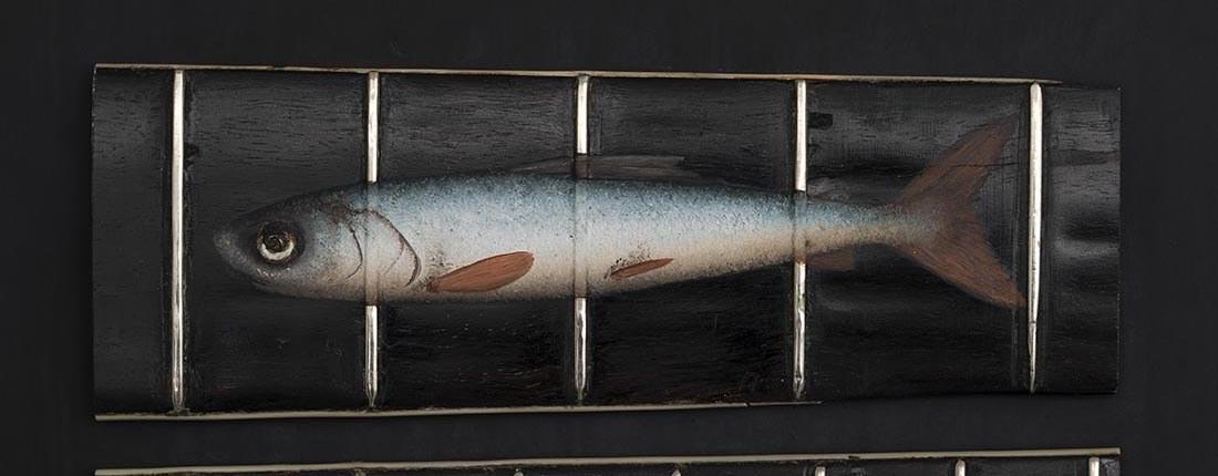 Fish Fret Oil On Fret Board 11X15Cm £950 00 Web Banner