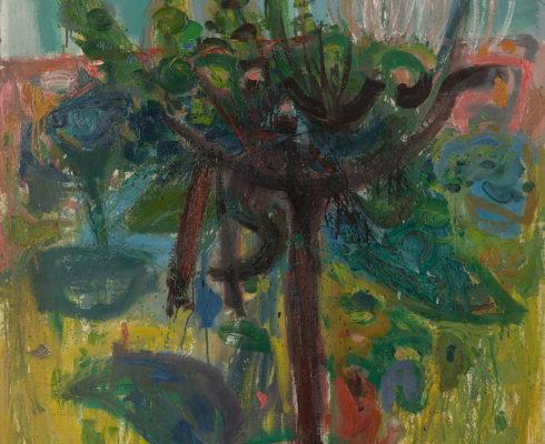 Alberto Morrocco Obe 1917 1998 Vine Oil On Canvas C 1963 122 X 99 Cm
