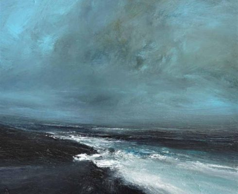 Early Autumal Gales Off Noness Mixed Media On Board 35 X 42 Cmweb