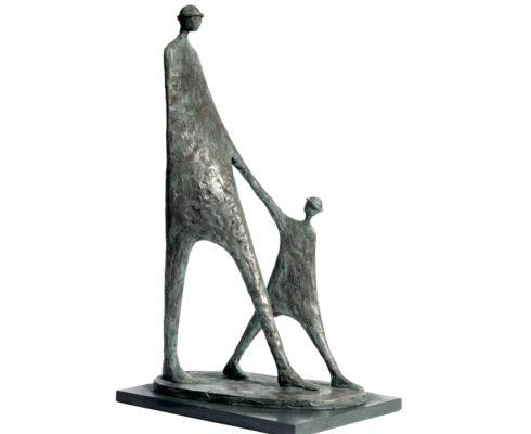 The Walk Bronze Resin £850 00 53Cm White Background