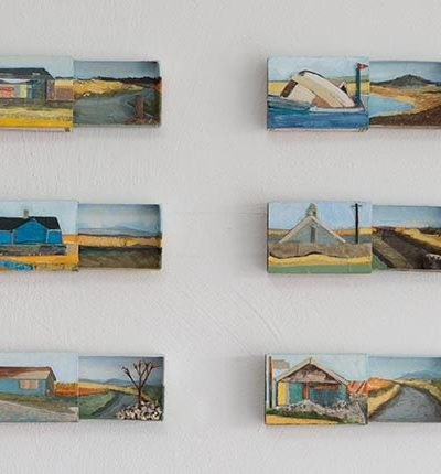 Jayne Stokes Orcadia' Acrylic Collage And Found Objects In Scottish Souvenir Matchboxes 43 X 70Cm £1000 For Web Banner