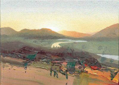 Study for Sun Setting over the River Dee, Braemar