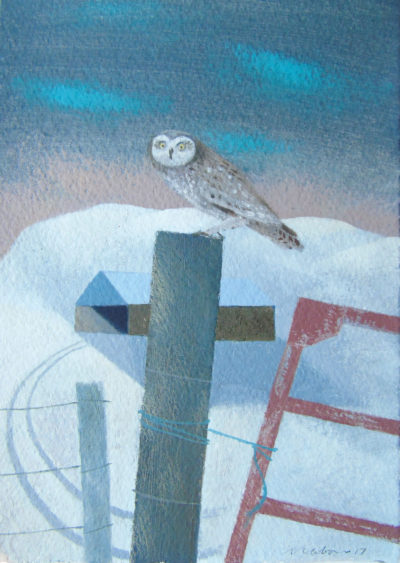 December Owl and Barn