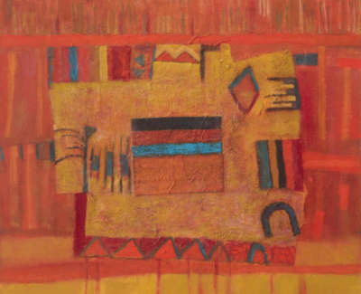 04 Red Indian Tapestry
