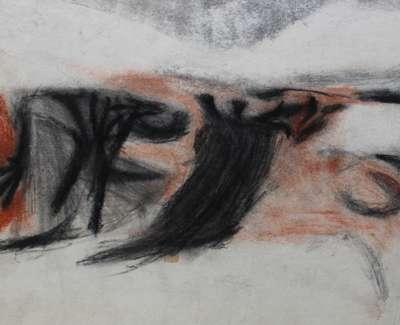 Ian Mckenzie Smith  Fife Hillside  Drawing 27 X 32 Cm