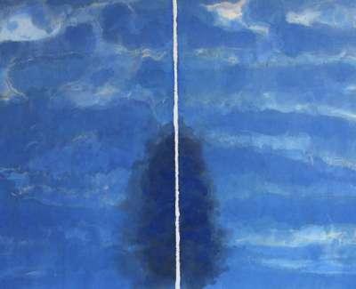 Ian Mckenzie Smith  Gleneagles Fir  Watercolour 66 X 97 Cm