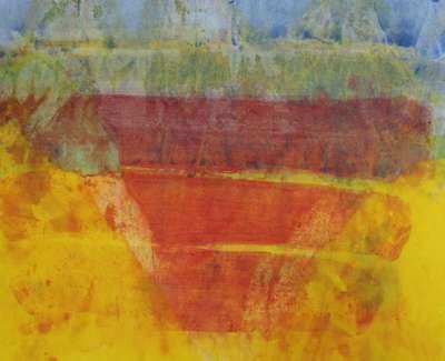 Ian Mckenzie Smith  Kozanji  Watercolour 42 X 65 Cm