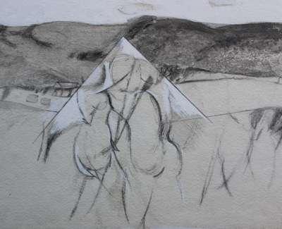Ian Mckenzie Smith  Meeting  Drawing 17 X 25 Cm