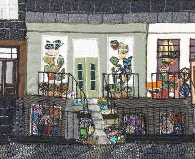 04 St Steven Street Fabric Collage 24X52 1982