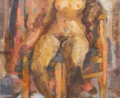 08 Studio Model Oil On Board 90X59 1967