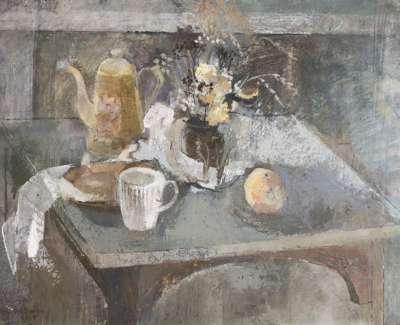 09 Still Life On Gray Table Oil On Board 46X59 1967