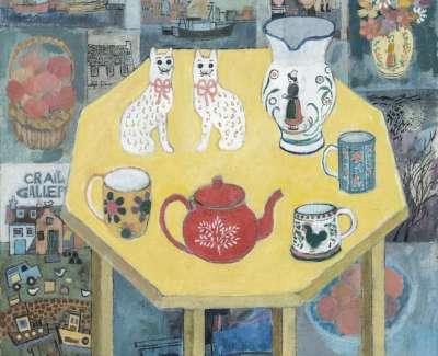 13 Red Teapot Oil 44X44 1989