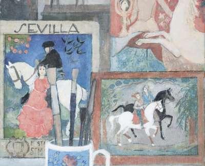 15 Four Horses One Unicorn Oil 36X25 2015