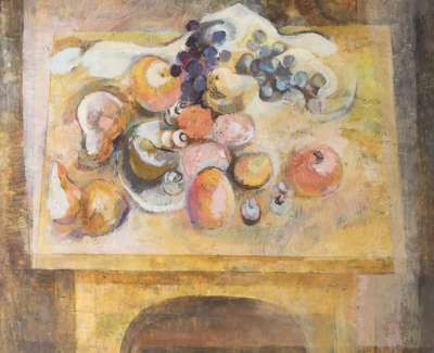 17 Fruit On Yellow Table Oil 60X60 1968