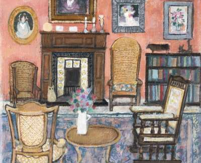 31 Interior With Orkney Chairs Oil 2012