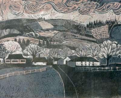 42 Byrne Valley Wood Cut 30X39 1976