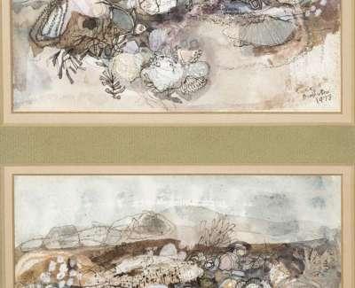 45 Rock Landscapes Watercolour 34X21 1973