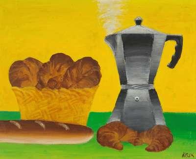 Jack Knox Rsa Rsw Rgi French Flavour Ii Oil On Canvas 48 5X58 5Cm