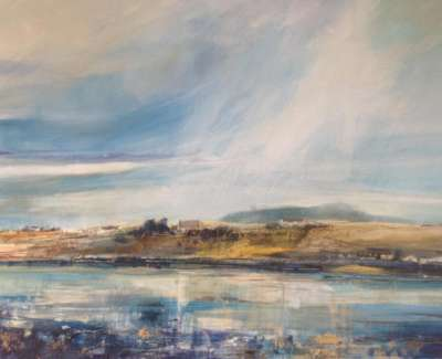 Reflections Bunessan Isle Of Mull Mixed Media With Gold Leaf 59 X 84 Cm