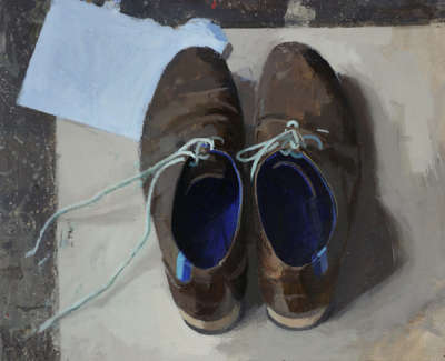 A L Kennedys Friendly Canadian Shoes  Oil On Board 28 Cm X 30 5 Cm £1300 00