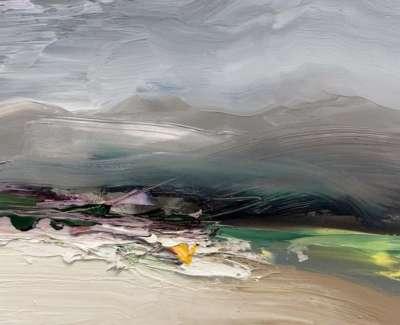 A Shaft Of Light Glen Carron Oil On Paper 21 X 15 Cm