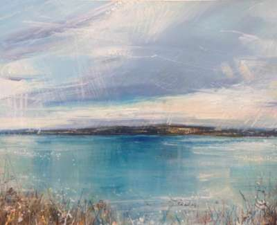 Across The Forth Mixed Media With Gold Leaf 28 X 29 X 59 Cm