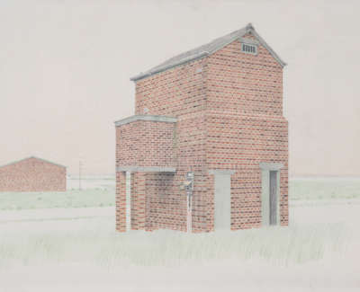 Airfield In Fife Pencil On Paper 1993 42 X 59Cm