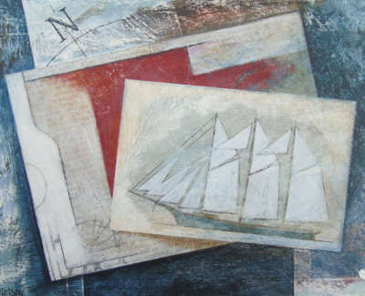 Alex Malcolmson Mariners Table  Mixed Media £195 00Web