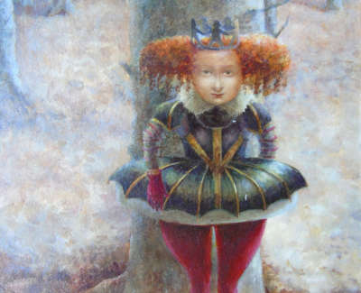 Alice Mc Murrough Pai Rgi Rsw Its Behind You  Oil On Board £495 00Web