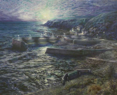 And It Was So Light One Could Have Found A Needle Burnmouth  Acrylic On Board 2018 50X35 5Cm £1250