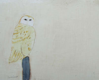 Andrew Squire Owl Mixed Media On Board £250 00Web
