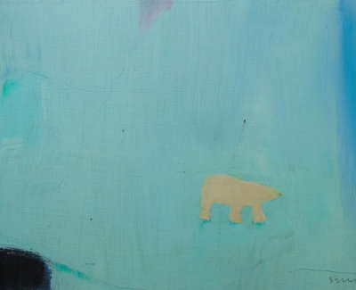 Andrew Squire  Polar Bear  Oil On Board 15 X 21 Cm £310 00