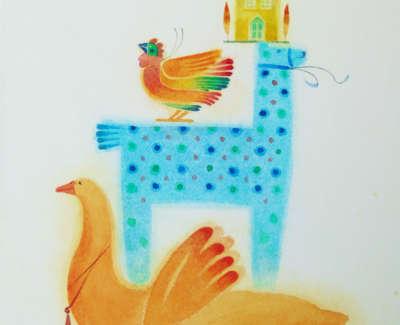 Ann Ross Rsw Tree Trinkets Watercolour On Board £295 00Web