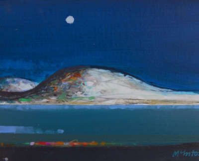 Archie Dunbar Mc Intosh Rsw Rgi  Night Fields  Acrylic On Board £480 00Web