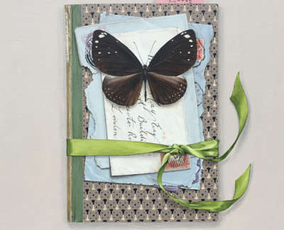 Book With Letters Butterfly And Key