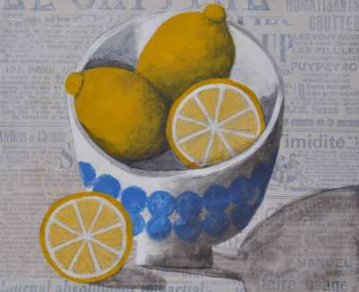 Bowl With Lemonsweb