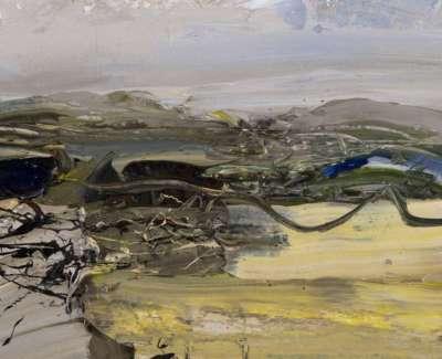 Broom Hill Oil On Paper 21 X 15