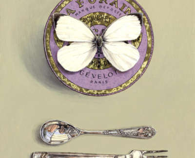 Butterfly With Tin And Cutlery