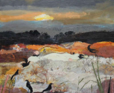 C Woodside Autumn Birds Mixed Media 35 5X38Cm