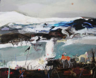 C Woodside Winter Freeze Mixed Media 71X81Cm