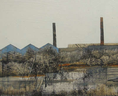 Cate Inglis Lifting Slabs  Monoprint And Oil On Board £450 00
