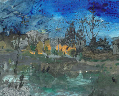 Catharine Davison Rsw  Water Of Leith Murrayfield  Acrylic On Board