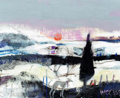 Christine Woodside Rsw Rgi  Winter Sun Kinross  Mixed Media On Board
