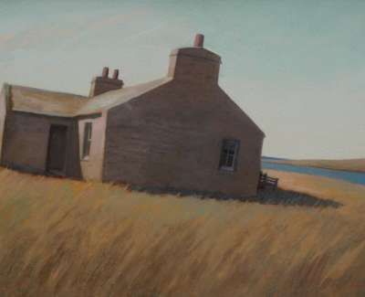 Cottage Loch Of Skaill By N Macdonald