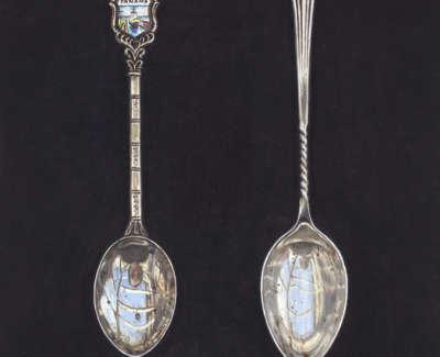 Souvenir Coffee Spoon Acrylic On Board 20 X 16 Cm £600 00