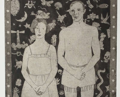 Unillustrated People Etching 37 X 18 Cm £300 00