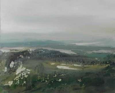 Catharine Davison Rsw The Lazy Mist L Wood The Pentlandsweb