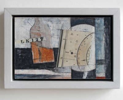 Chart Table Mixed Media On Board Wall Hung 17 X 24 Cm