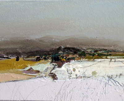 Chris Bushe Rsw Across The Valley Easter Tornaveen  Mixed Media £375 00