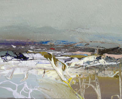 Chris Bushe Rsw December Afternoon The Howe Of Cromar  Mixed Media £375 00